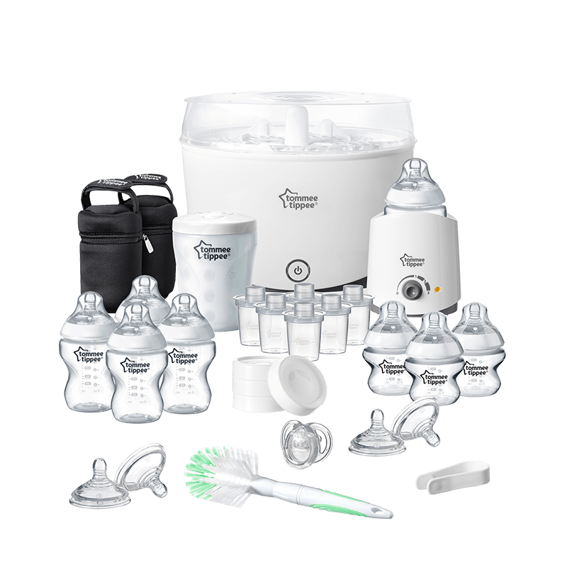 Tommee Tippee Complete Starter Kit showing all components