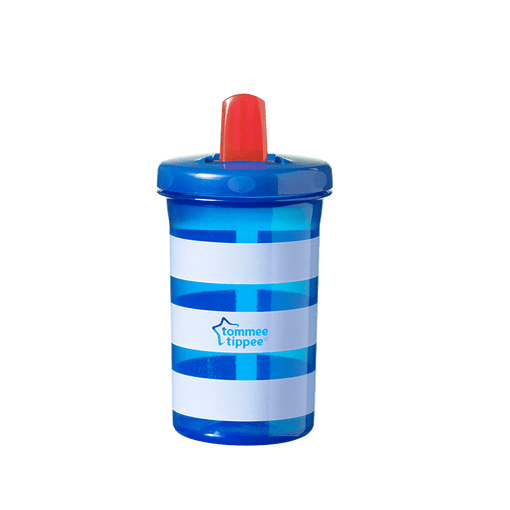 Blue striped Tommee Tippee Super Sippee Cup