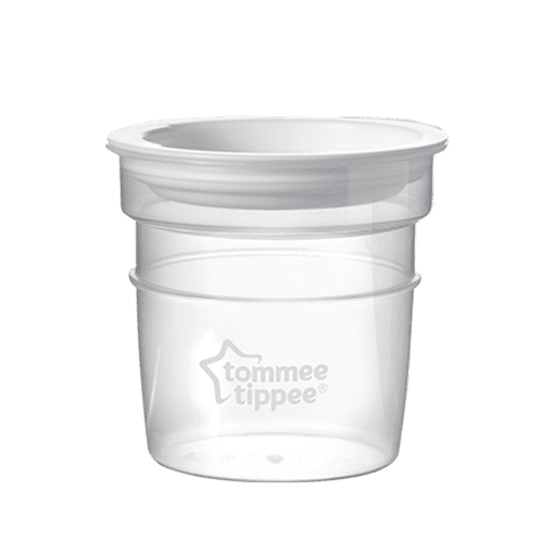 Once empty Tommee Tippee milk storage pot