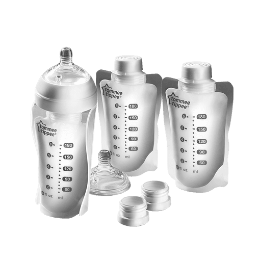 Tommee Tippee Express and Go Pouches and adapter