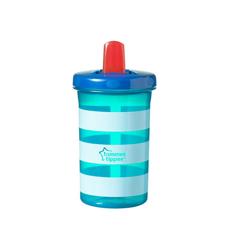 Green striped Tommee Tippee Super Sippee Cup