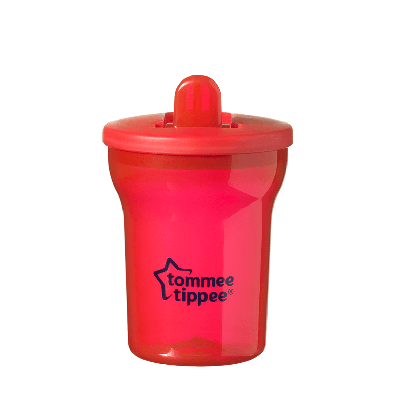 Red Tommee Tippee Essentials Free Flow Cup with red straw
