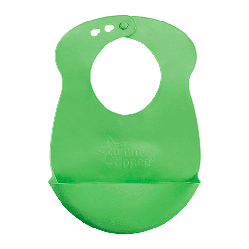 Green Tommee Tippee Roll n Go Bib
