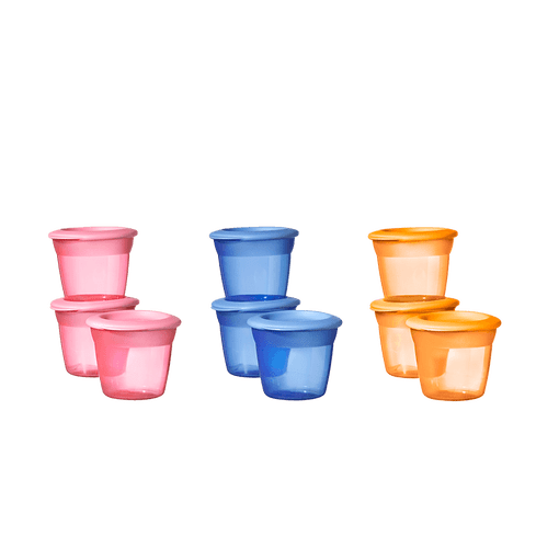 Pink, Blue and Orange Tommee Tippee Food Pots