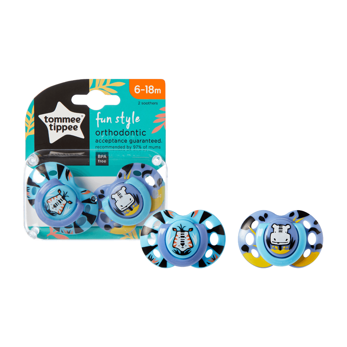 fun-style-soother-6-18-month-with-next-to-packaging