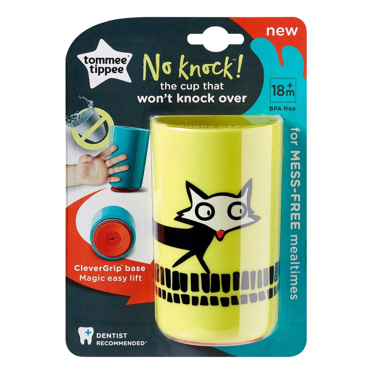 large-yellow-no-knock-cup-with-fox-design-with-packaging