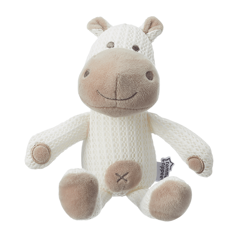Brown Hippo Tommee Tippee Breathable Toy front on view