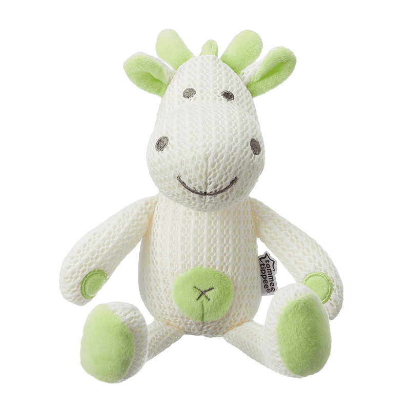 Green Tommee Tippee Breathable Toy, soft childs toy