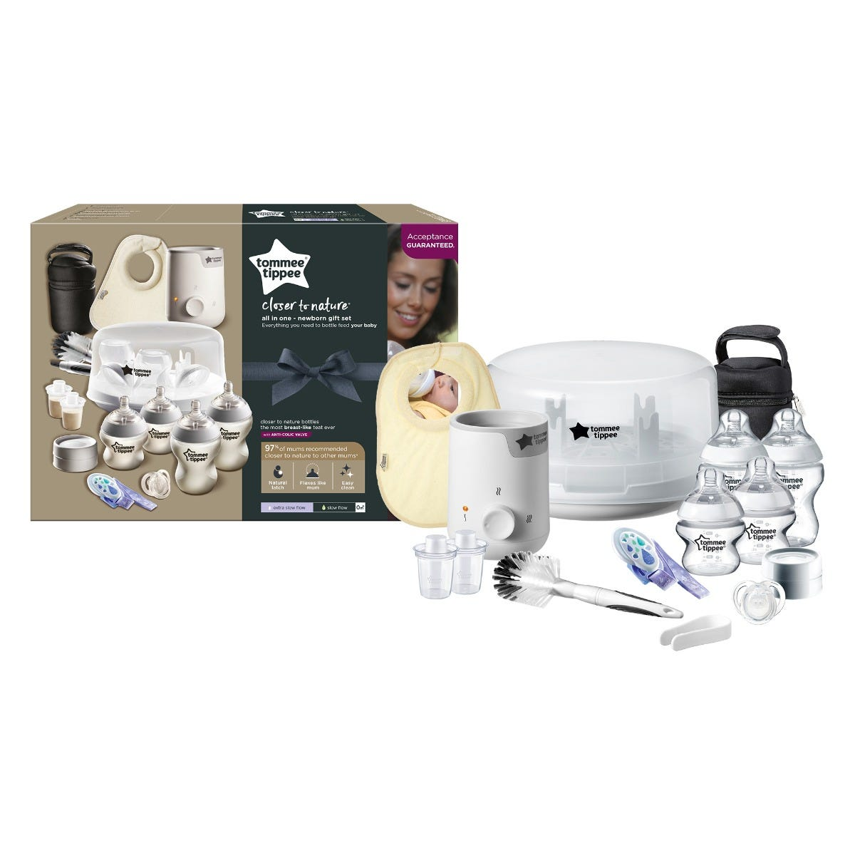 Closer to Nature All-in-One Newborn Gift Set with packaging