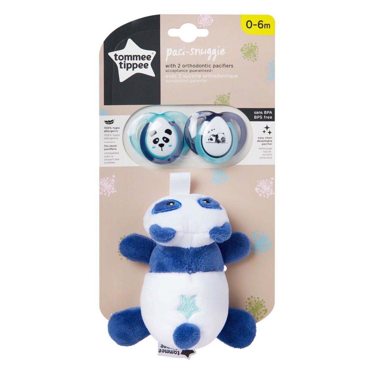panda paci snuggie in packaging