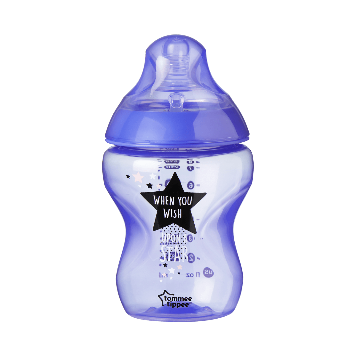 Single Closer to Nature Sleep Tight Baby Bottle 260ml in Purple