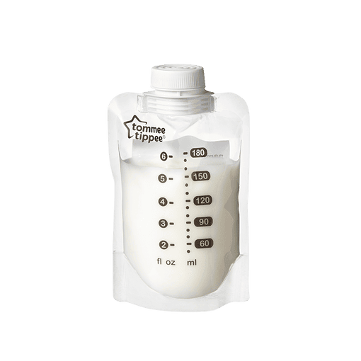 Tommee Tippee Express and Go Bottle Pouch with milk