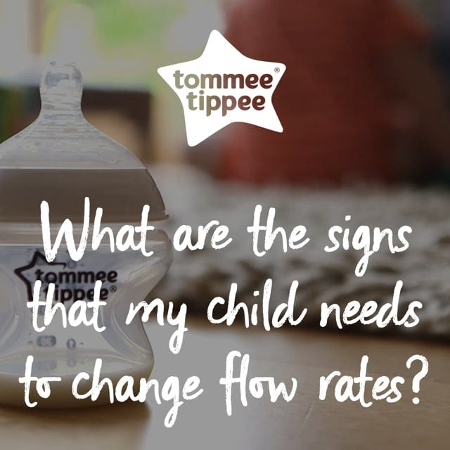 What are the signs that my child needs to change flow rates?