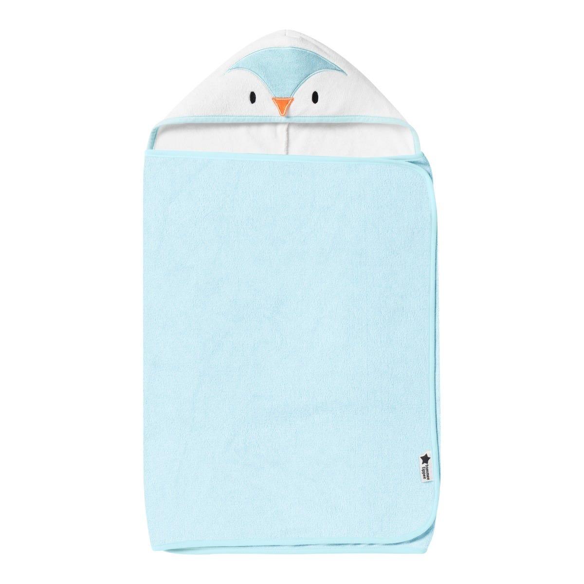 Splashtime hug 'n' dry hooded towel  - blue