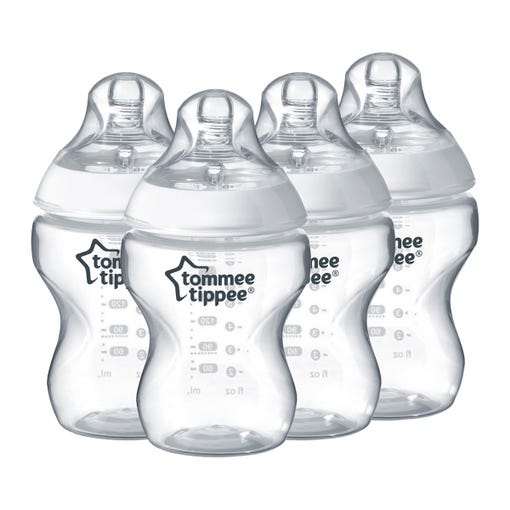 4-x-clear-9-oz-closer-to-nature-baby-bottles-with-tommee-tippee-logo