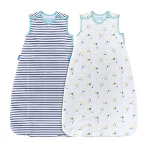 Starry Night Day and Night 1.0/2.5 Tog Twin Pack Grobag