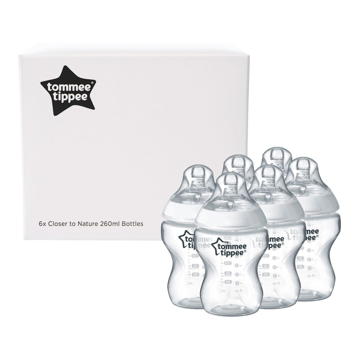 Closer to Nature 260ml baby bottle 6 pack