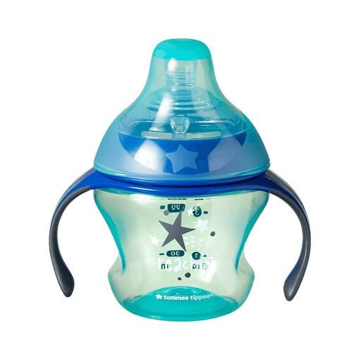 Tommee Tippee Blue Transition cup with stars design