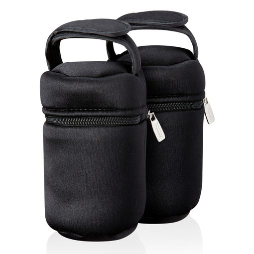 Insulated Bottle Bags with zips closed