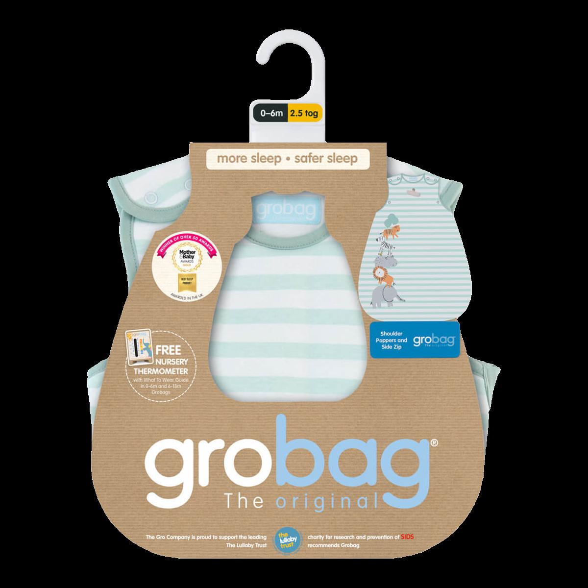1.0 Tog The Gro Company Jungle Boogie Travel Grobag Baby Sleeping Bag 18-36 Months