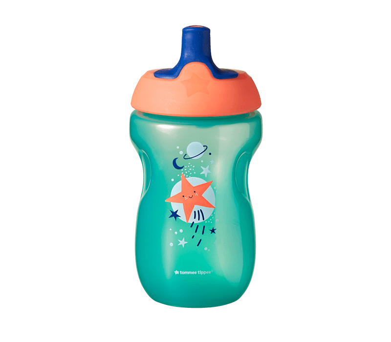 active-sports-bottle-in-aqua-with-star-design-and-orange-cap