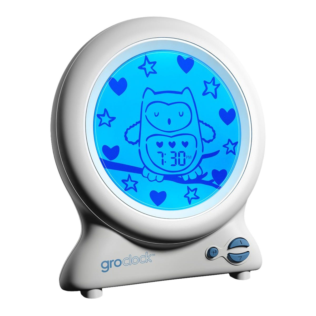 Ollie the Owl Groclock - night time screen