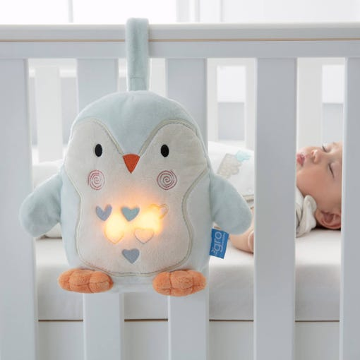 percy-penguin-grofriend-attached-to-cot-while-baby-naps