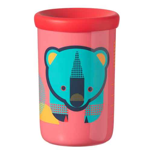 coral-pink-Easiflow-360°-Cup-with-bear-design