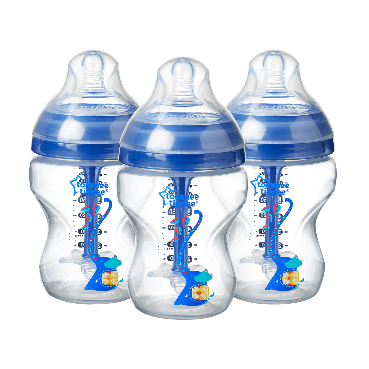 three-250ml-advanced-anti-colic-baby-bottles-blue-elephant-design