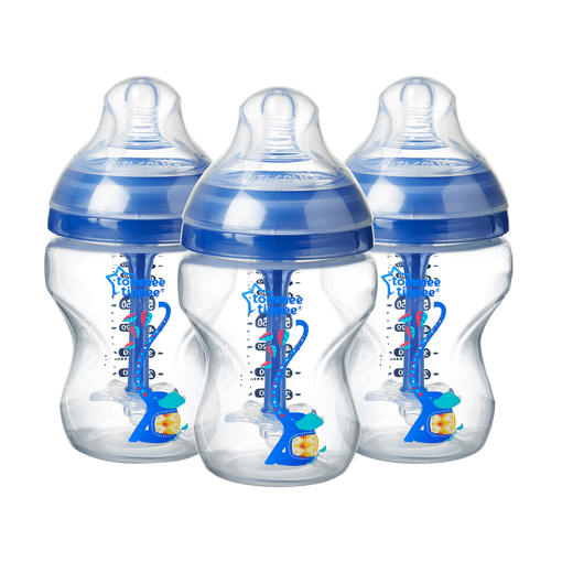 three-260ml-advanced-anti-colic-baby-bottles-blue-elephant-design