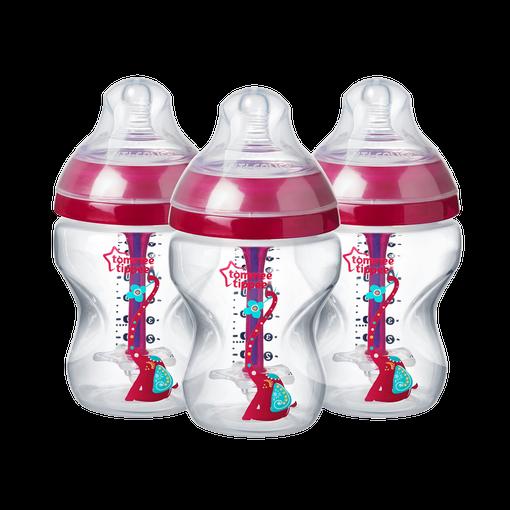 three-260ml-advanced-anti-colic-baby-bottles-pink-elephant-design