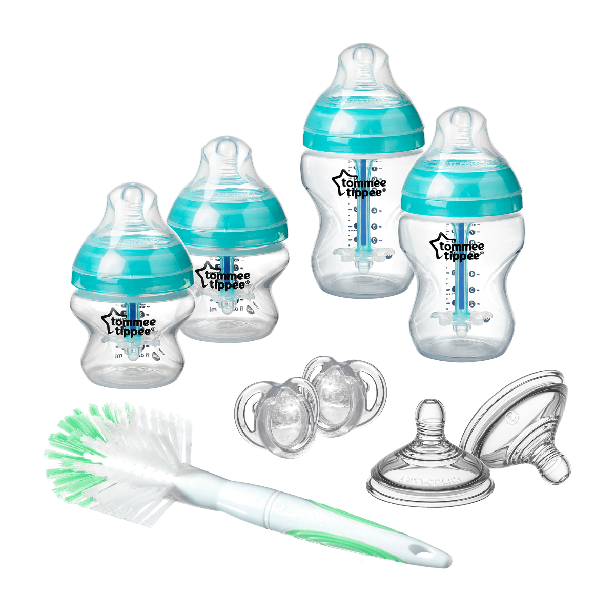 Advanced-Anti-Colic-Bottle-Starter-Set-including-soothers-teats-and-bottle-brush