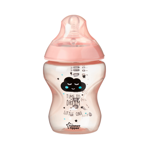 Single Closer to Nature Sleep Tight Baby Bottle 260ml in Pink