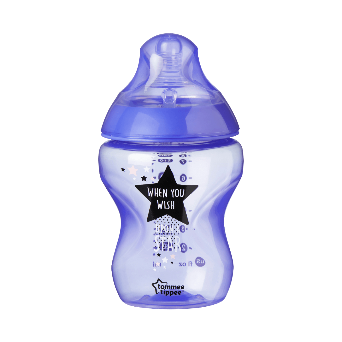 Single Closer to Nature Time to Dream Baby Bottle in purple