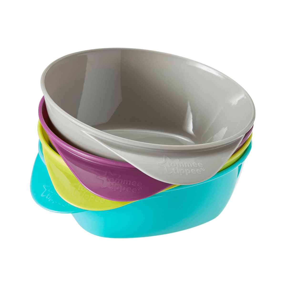 Pack Of 2 Colour May Vary Tommee Tippee Easy Scoop Bowls With Lid//spoon