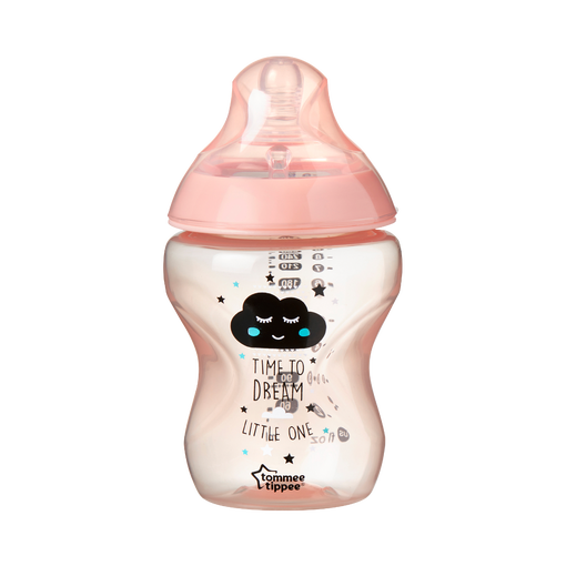 Closer-to-nature-time-to-dream-pink-baby-bottle-with-cloud-design