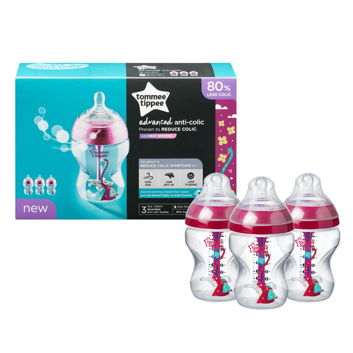 3-x-9-oz-advanced-anti-colic-baby-bottles-with-red-elephant-design-with-packaging-behind