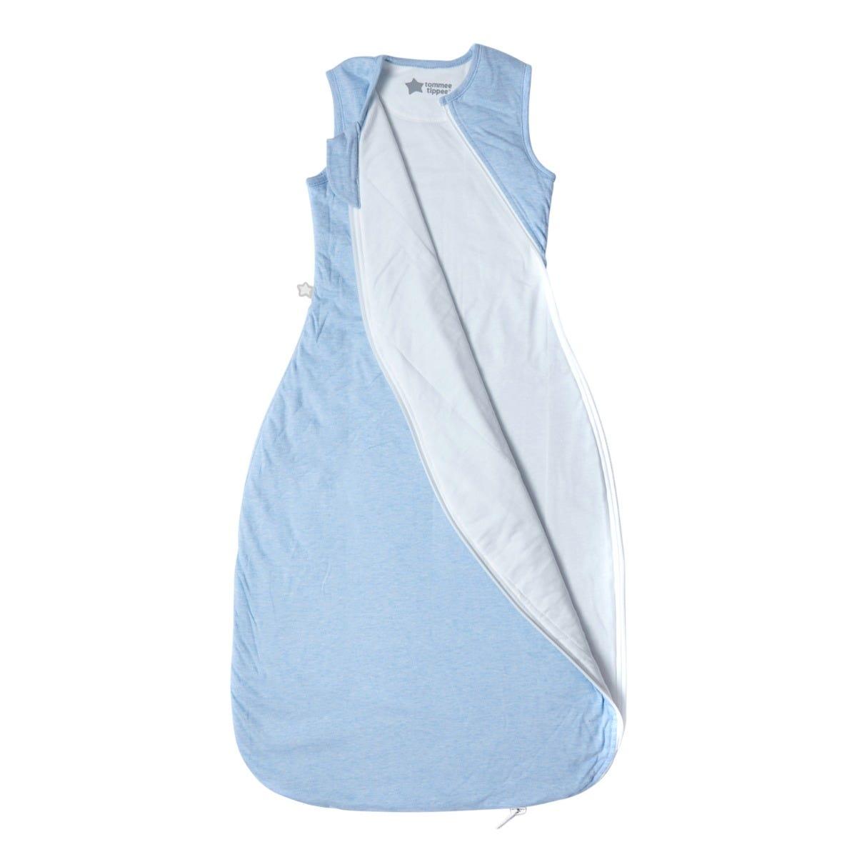 The Original Grobag Blue Marl Sleepbag zip open