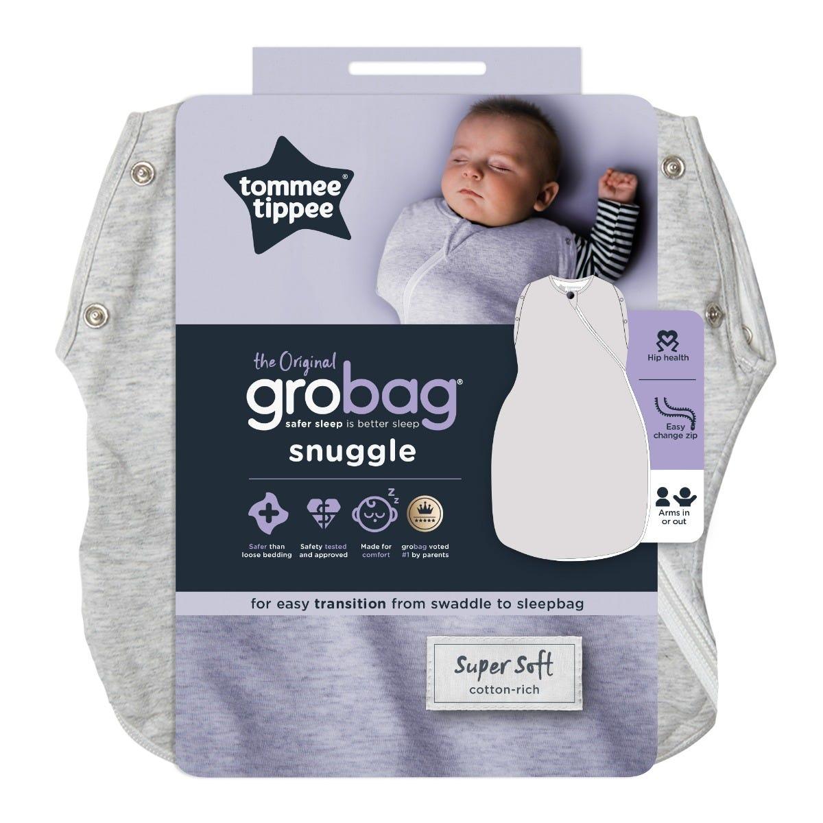 The Original Grobag Grey Marl Snuggle packaging