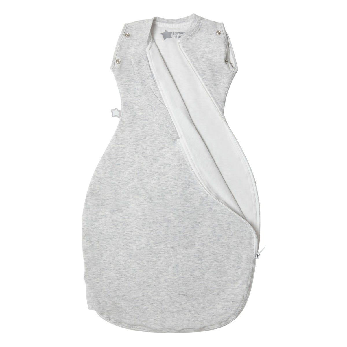 The Original Grobag Grey Marl Snuggle zip open