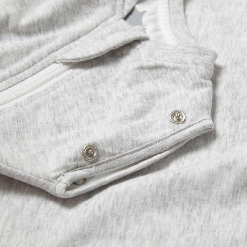 The Original Grobag Grey Marl Snuggle popper close up