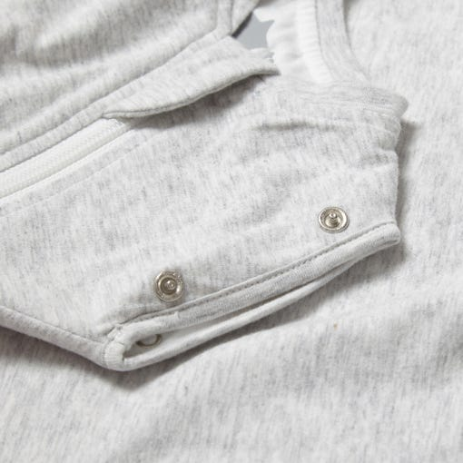 The Original Grobag Grey Marl Snuggle close up of poppers