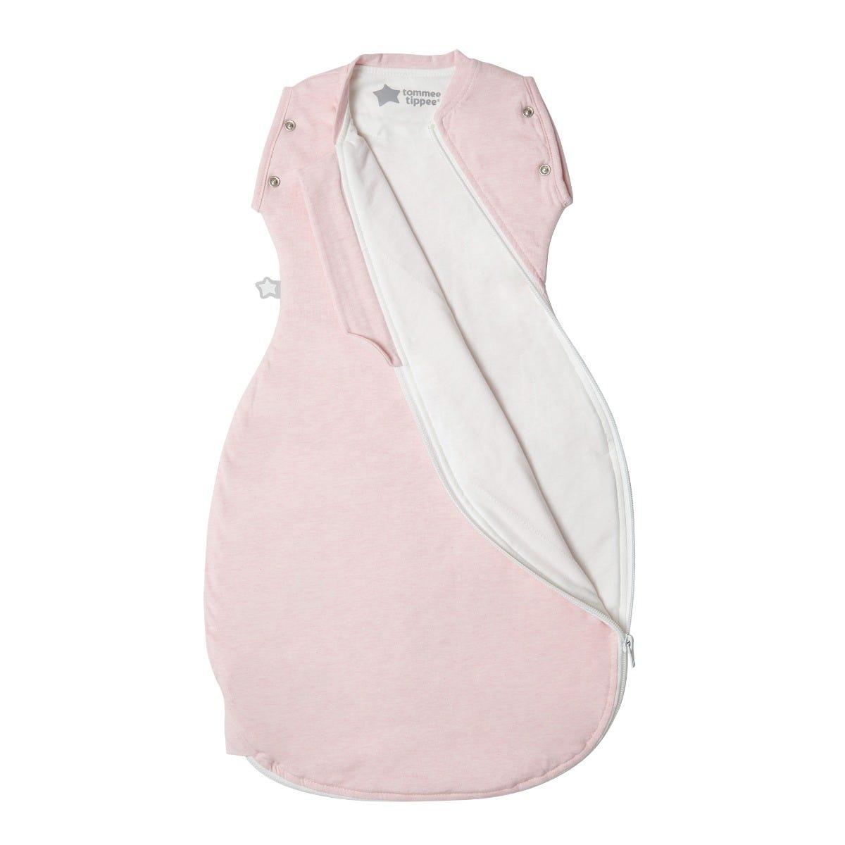 The Original Grobag Pink Marl Snuggle zip open