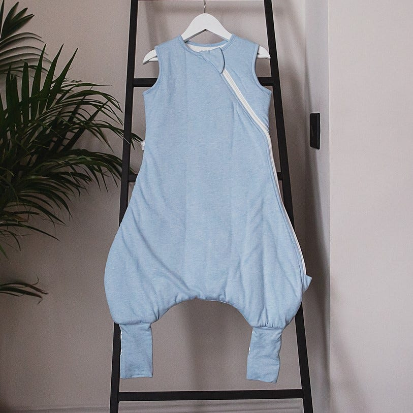 Blue Marl 1 Tog 18-36 months Tommee Tippee The Original Grobag Steppee Baby Romper Suit