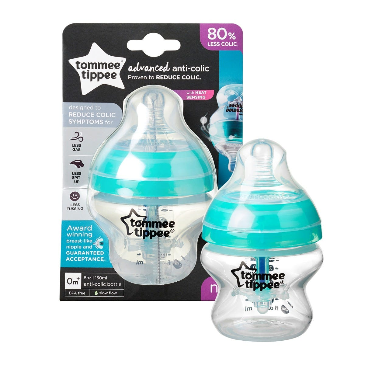 1-x-5-oz-advanced-anti-colic-closer-to-nature-baby-bottle-in-front-of-packaging