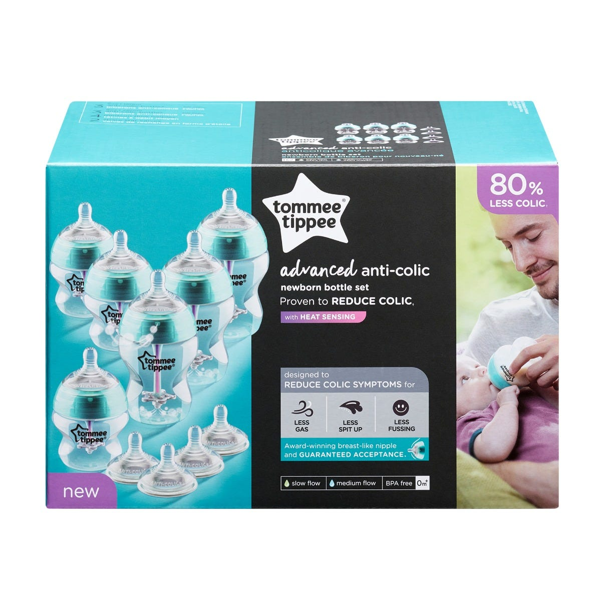 Advanced Anti-Colic Bottle & Nipple Starter Set packaging