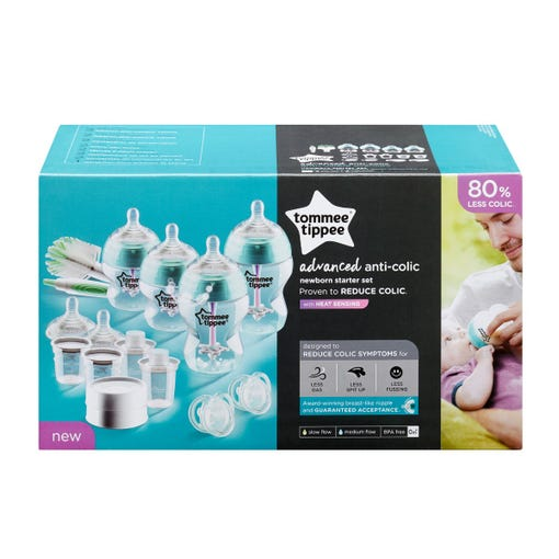Advanced Anti-Colic Bottle Feeding Starter Set with packaging