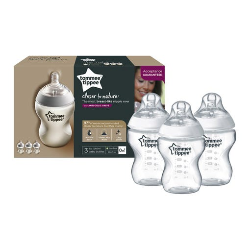 3-9oz-closer-to-nature-baby-bottles-in-front-of-packaging