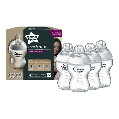 6-9oz-closer-to-nature-baby-bottles-in-front-of-packaging