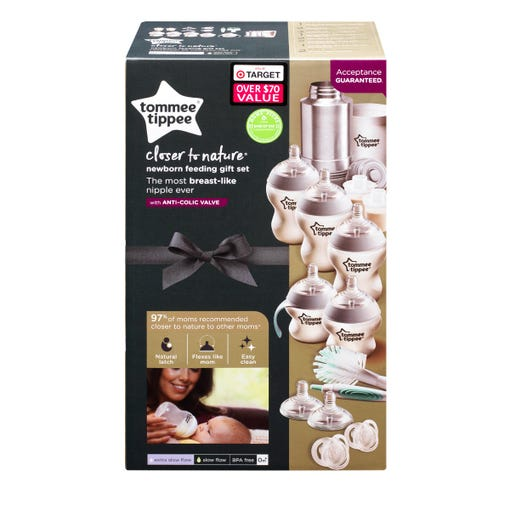 Closer to Nature Newborn Feeding Gift Set packaging